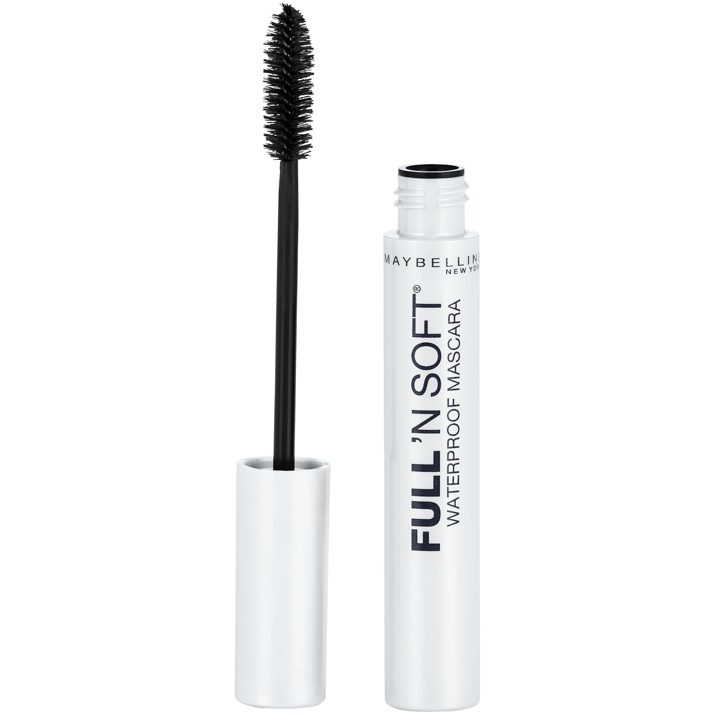 Maybelline New York Full 'N Soft Waterproof Mascara, Very Black