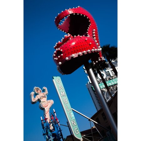Ruby slipper neon sign in a city El Cortez Hotel and Casino Fremont Street Las Vegas Nevada USA Canvas Art - Panoramic Images (36 x 12)](Party City In Fremont)
