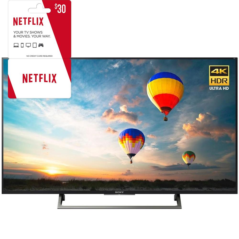 Sony XBR-43X800E 43-inch 4K HDR Ultra HD Smart LED TV (2017 Model) w  3 Month Netflix... by Sony