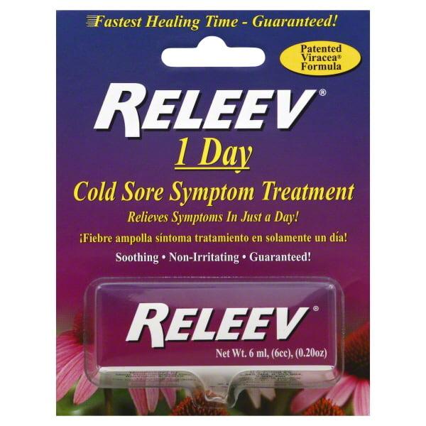 Releev Cold Sore Symptom Treatment I Day - .2 Oz