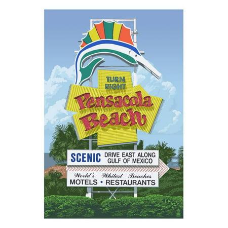 Pensacola Beach, Florida Print Wall Art By Lantern - Party City Pensacola Florida