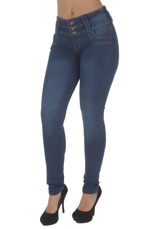 G513R-P - Plus Size, Butt Lifting, Levanta Cola, Mid Waist, Skinny Jeans
