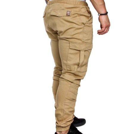 Boyijia Mens Pocket Pants Casual Elastic String Fashion Long Trousers Joggers - image 4 of 8