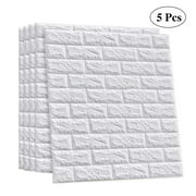 3D Brick Wall Sticker Self Adhesive Wall Tiles, Peel to Stick Wall Decorative Panels for Living Room, Bedroom, White Color 3D Wallpaper