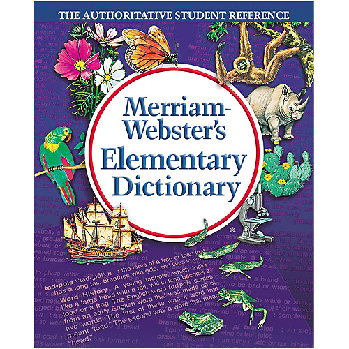Merriam Webster Elementary Dictionary, Grades 2-4, Hardcover, 624 Pages