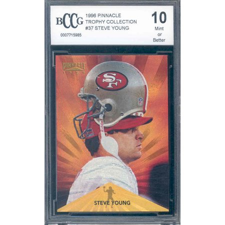 1996 Pinnacle Mint (1996 pinnacle trophy collection #37 STEVE YOUNG niners BGS BCCG 10)
