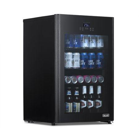 NewAir Beer Fridge Froster 125 Can Freestanding Beverage Fridge in Black with Party and Turbo Mode, Chills Down to 23 Degrees