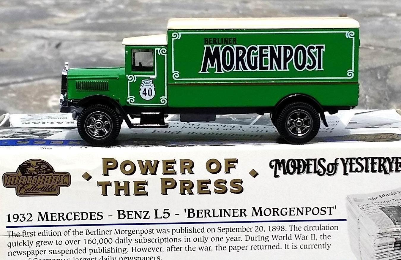 """Power of the Press """"BERLINER MORGENPOST"""" 1932 Mercedes Benz L5 Van Models... by"""