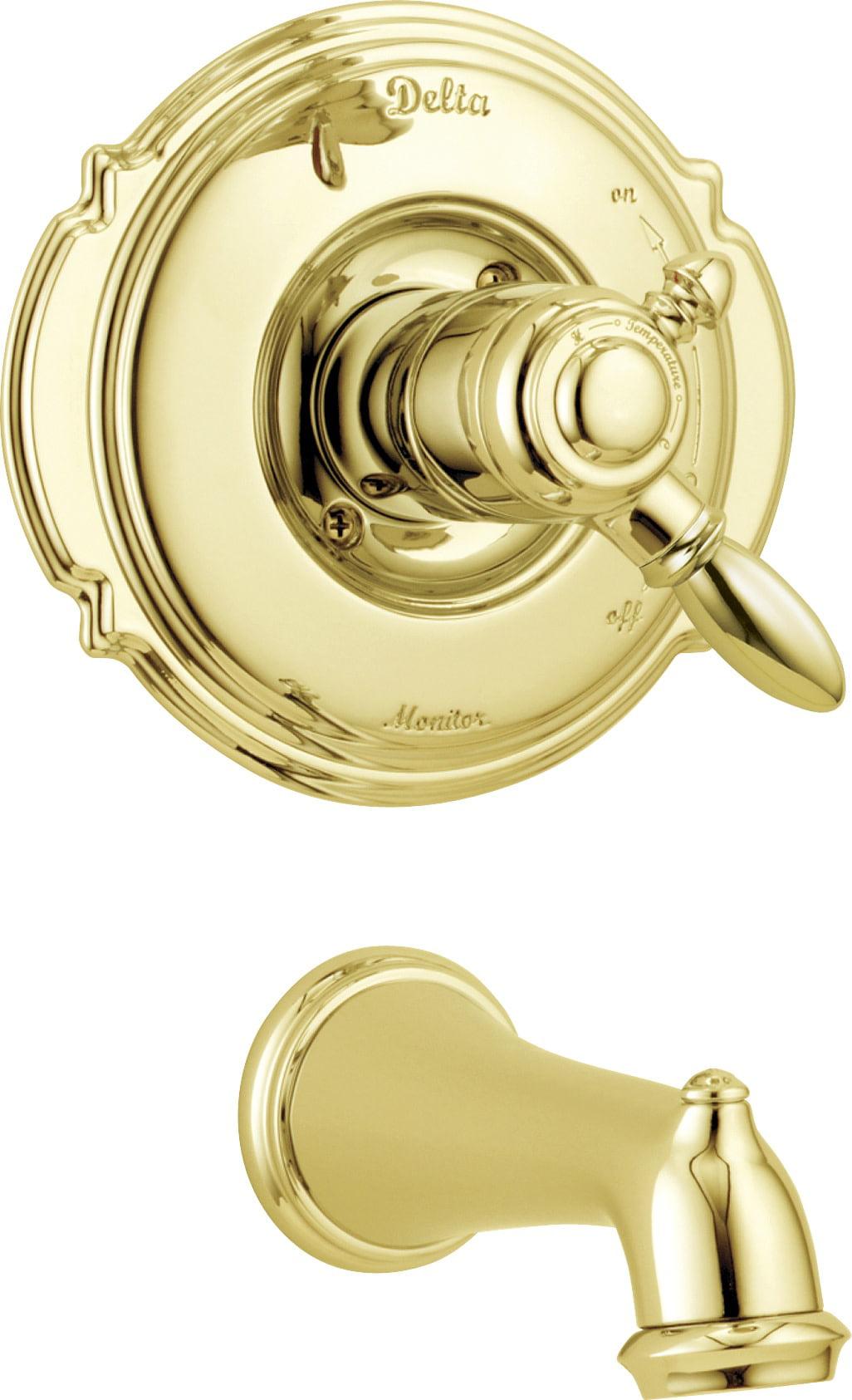 Delta Victorian Monitor® 17 Series Tub Trim in Polished Brass