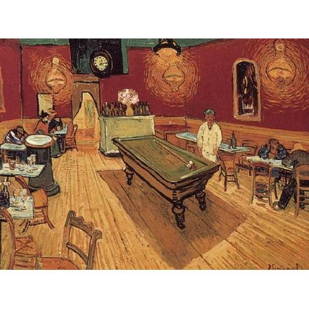 Van Gogh: Night Cafe, 1888 Post-Impressionist Billiard Pool Table Interior Print Wall Art By Vincent van