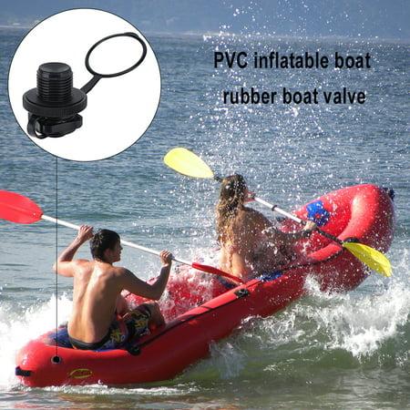 Yosoo Valve de vis de rechange 2pcs pour bateau pneumatique de piscine de radeau de dériveur en caoutchouc gonflable, accessoire de bateau gonflable, vanne gonflable de radeau - image 3 de 6