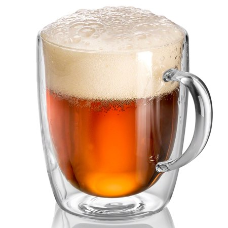 Cheap Plastic Beer Mugs (Double Wall Glass Beer Mugs 17 oz (Set of)