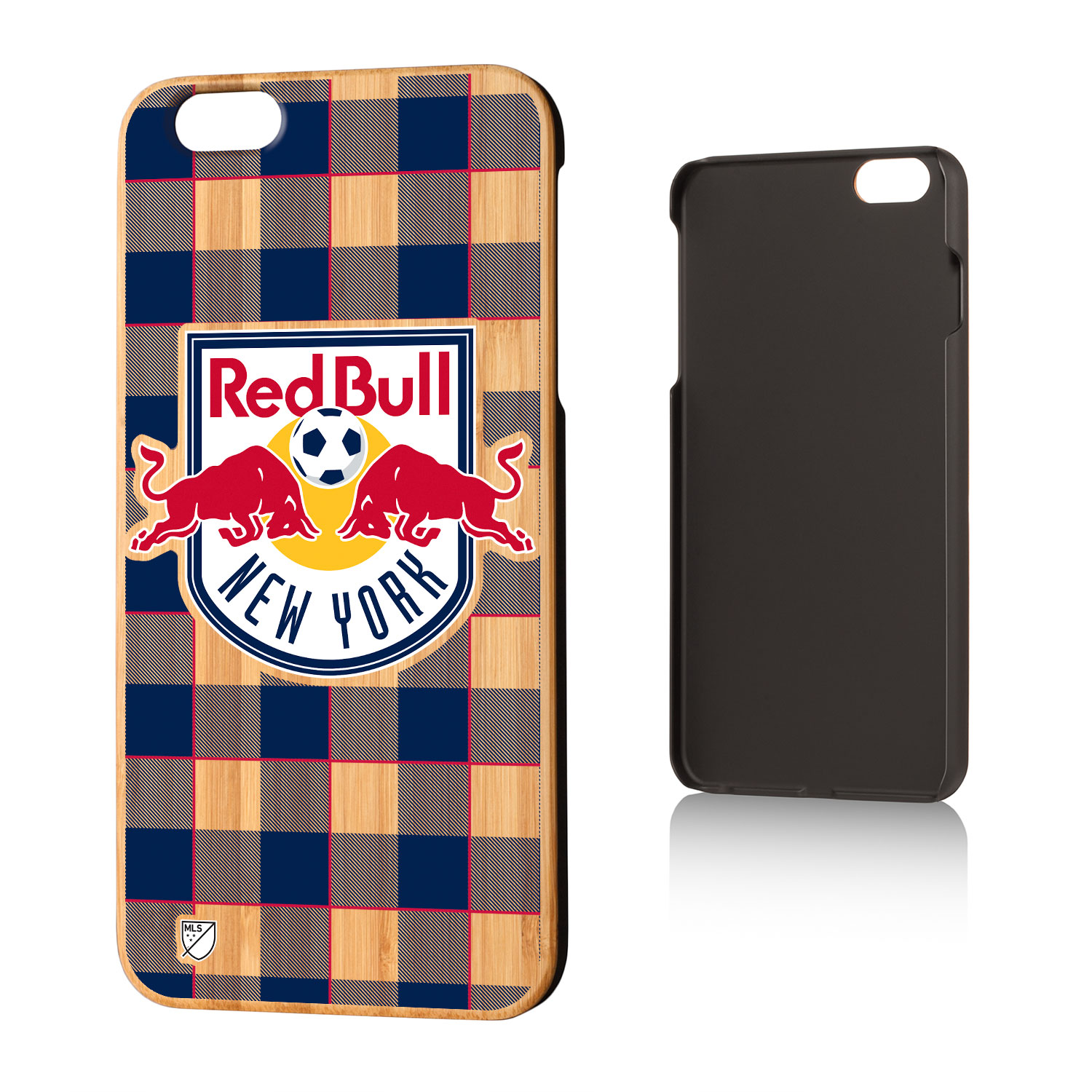 New York Red Bulls RED BULLS Plaid Bamboo Case for iPhone 6 Plus