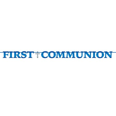 Boys First Communion Religious Celebration 12 Foot Banner - First Communion Banners