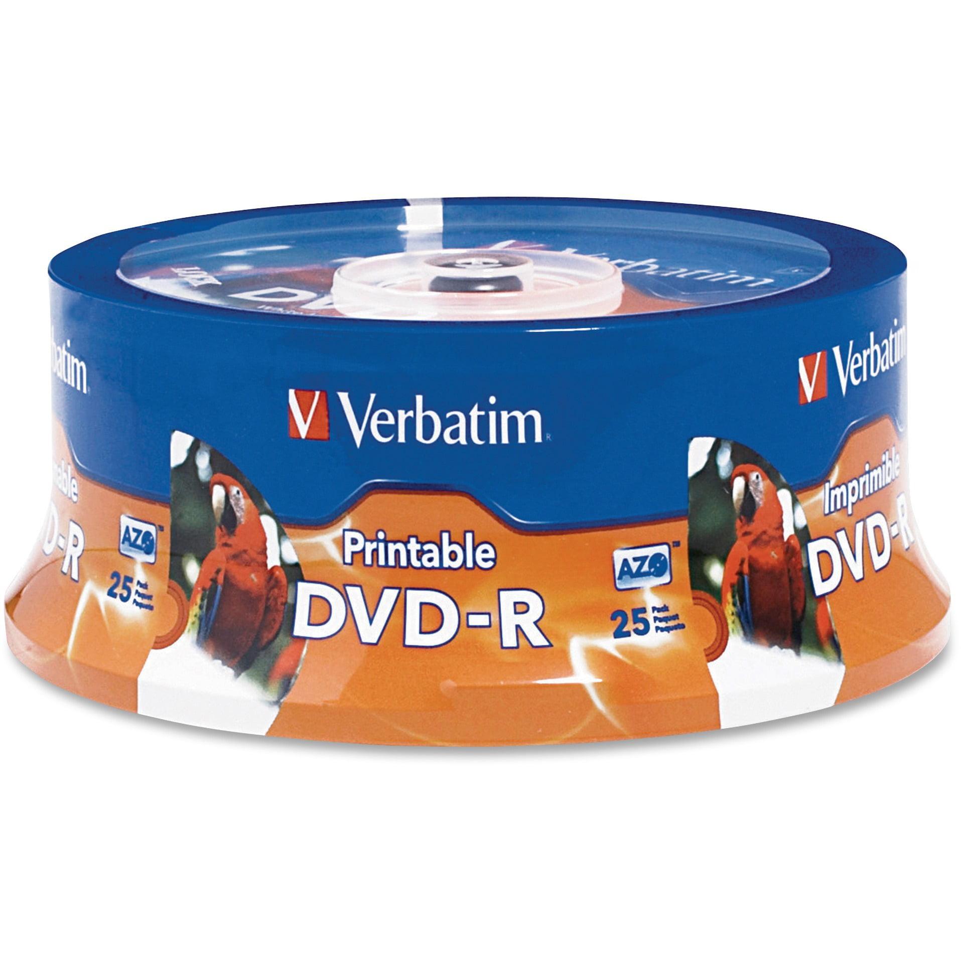 Verbatim, VER96191, 16X Inkjet/Hub Printable DVD-R, 25, White
