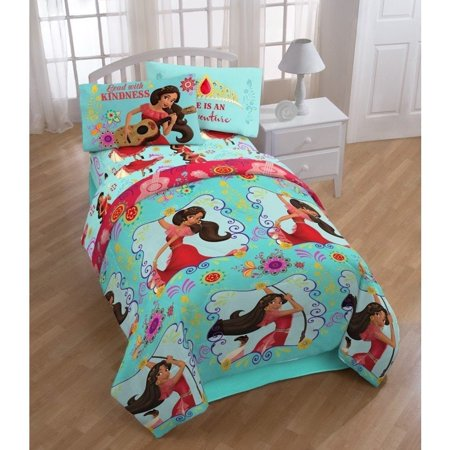 Disney  Elena of Avalor Flower Power Twin 4-piece Bed in a Bag Set ()