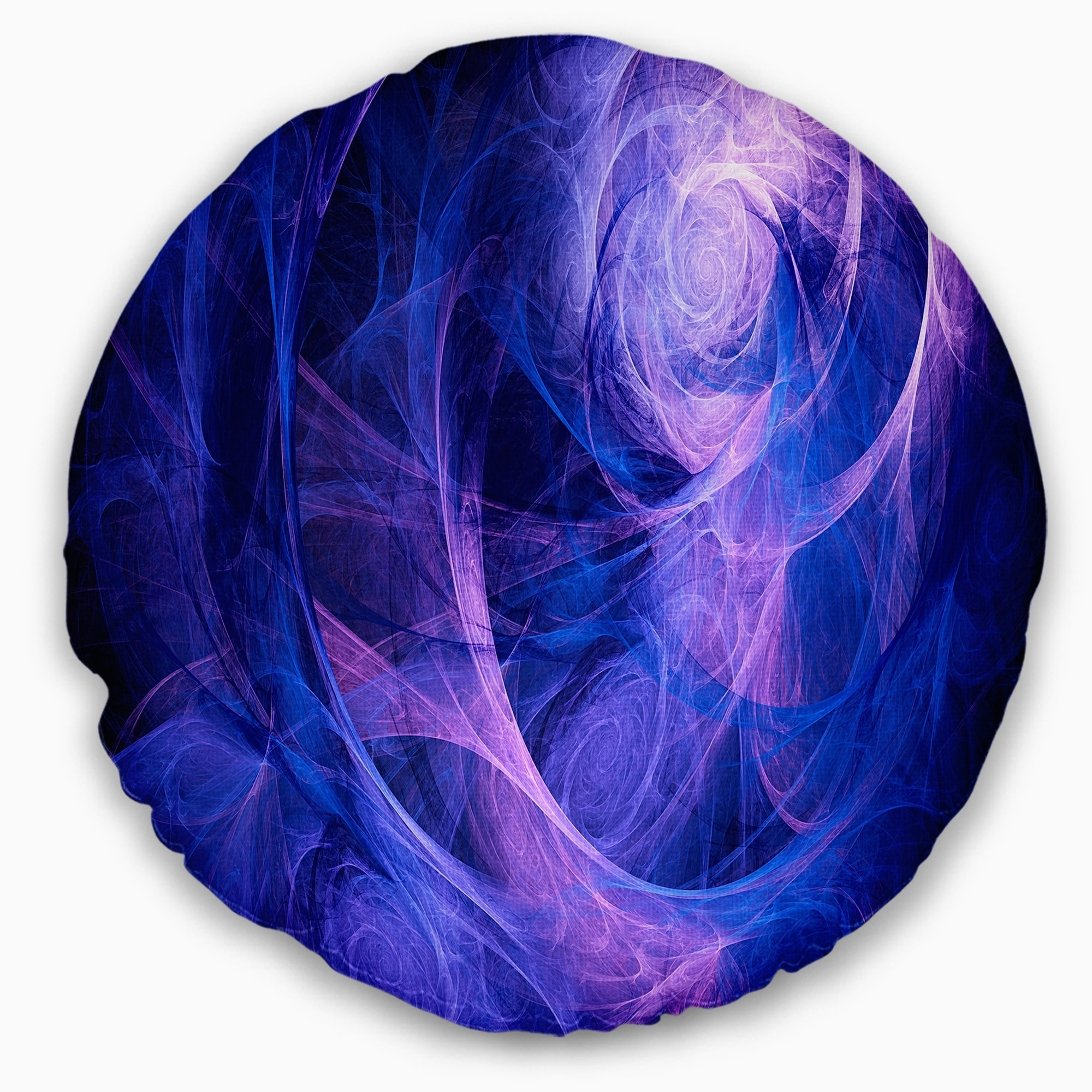 Designart CU7907-16-16-C Bright Blue Stormy Sky Abstract Round Cushion Cover for Living Room Sofa Throw Pillow 16 Insert Printed On Both Side