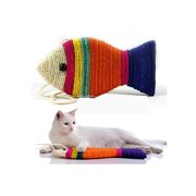 Cat Scratch Board Scratching Pad Play Funny Toy Fish Shape (Random Color)
