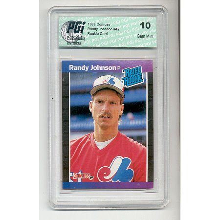 1989 Donruss Randy Johnson Rookie Card Pgi 10 Big Unit