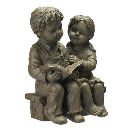 Boys Best Friend Garden Statue (Better Homes & Gardens Boy and Girl Reading Garden)