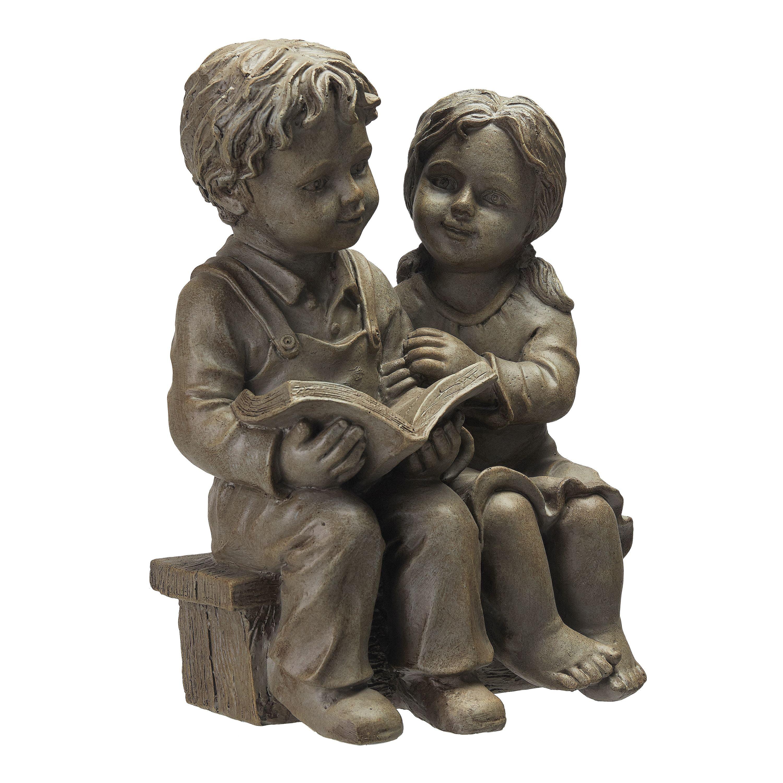 Better Homes & Gardens Boy and Girl Reading Garden Statue