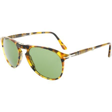 Persol PO9714S-10524E-55 Brown Oval Sunglasses