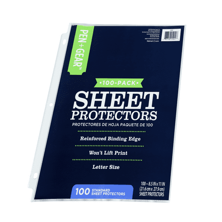Pen + Gear Standard Sheet Protectors, 8.5