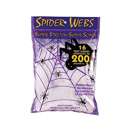 Super Stretch  Super Scary Spider Webs Halloween Gift Bundle 35 Count Bags  35 Piece