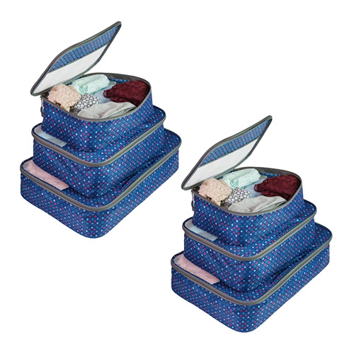 Set of 6 Packing Cubes-Diamond Sparkle Set of 3 Packing Cubes