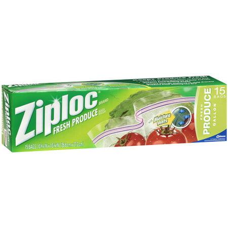 Ziploc Produce Bag 15ct Walmart Com