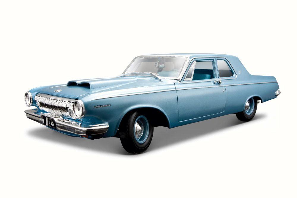 1963 Dodge 330, Blue Maisto 31652 1 18 Scale Diecast Model Toy Car by Maisto