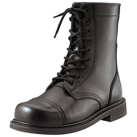 Classic Combat Jump Style Boots with All-Leather Upper (Mens Boots Combat Style)