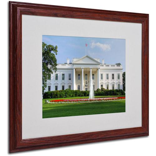 "Trademark Fine Art ""White House"" Matted Framed Art by CATeyes"