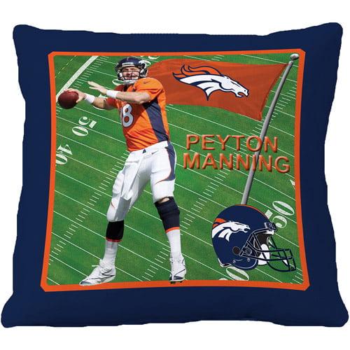 """Biggshots Denver Broncos Peyton Manning 18"""" Toss Pillow"""