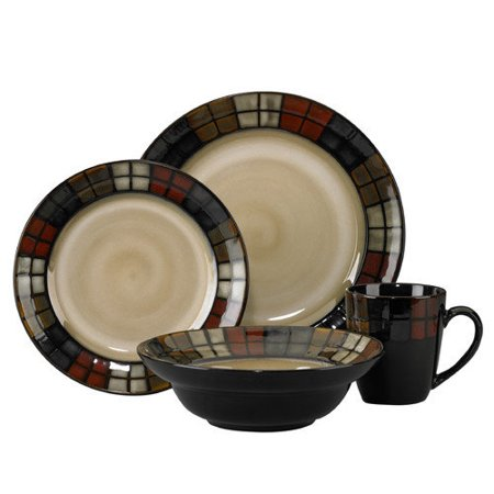 Pfaltzgraff Everyday Calico 16-Piece Dinnerware Set (Service for 4)