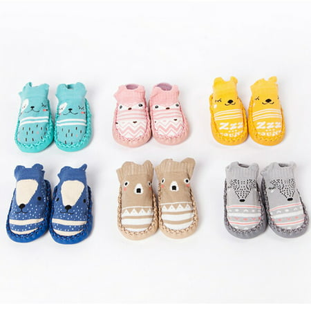 9b269eb2e5da BOBORA - BOBORA Newborn Slipper Infant Baby Boy Girl Non-slip Knitted Socks Shoes  Toddler Soft Sole Boot - Walmart.com