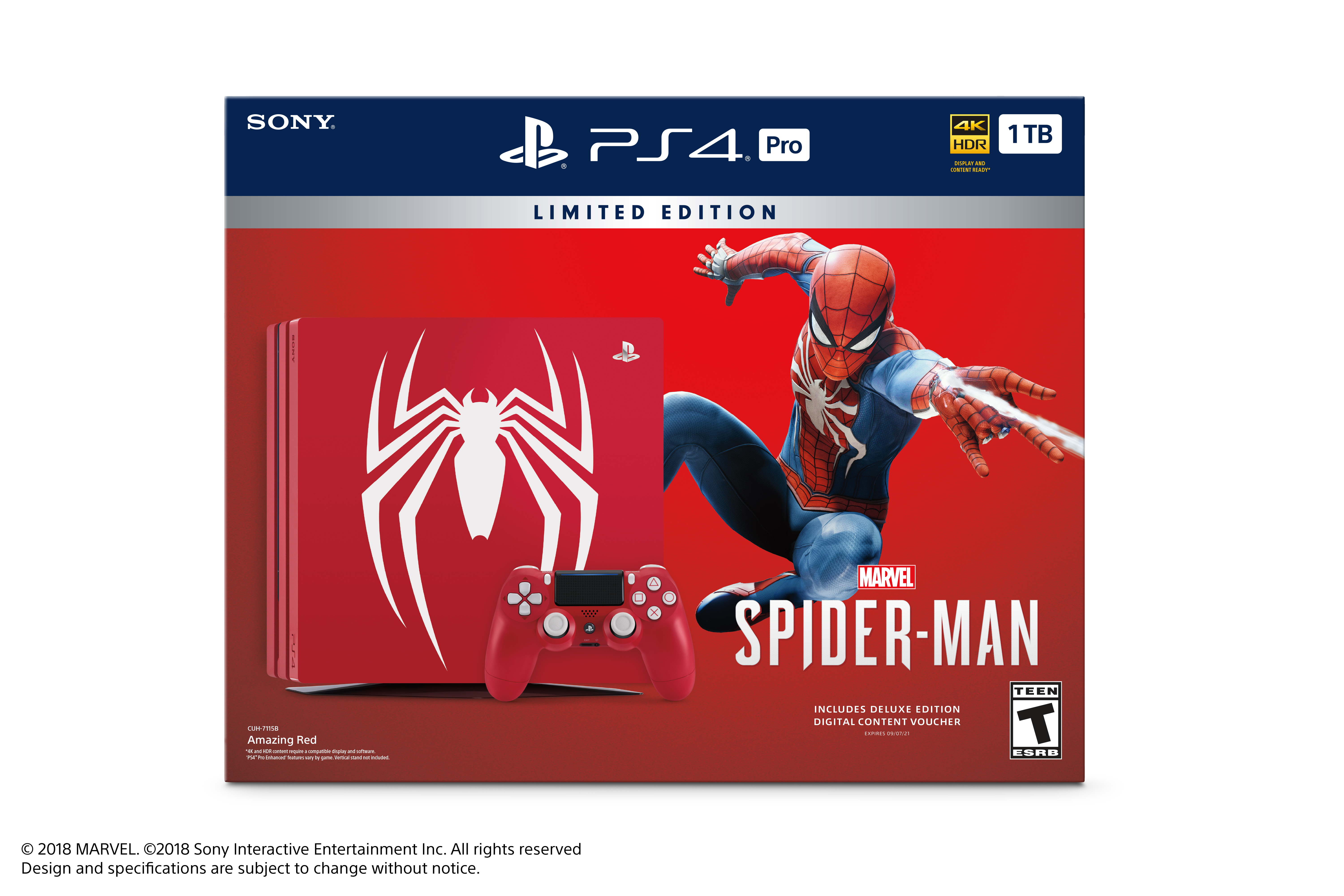 Sony Limited Edition Marvel's Spider-Man PS4 Pro 1TB Bundle