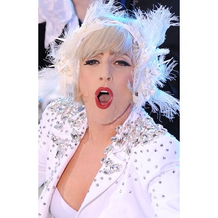 Lady Gaga On Stage For Nbc Today Show Concert With Lady Gaga Rockefeller Plaza New York Ny July 9 2010 Photo By Kristin CallahanEverett Collection