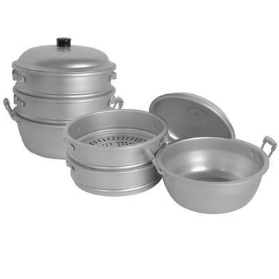 Aluminum Food Steamer Set for Vegetable Steam Cooker Steaming Stove Top