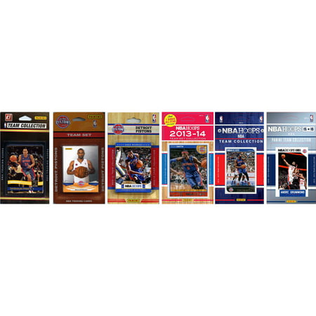 C Collectables Nba Detroit Pistons 6 Different Licensed Trading Card Team Sets