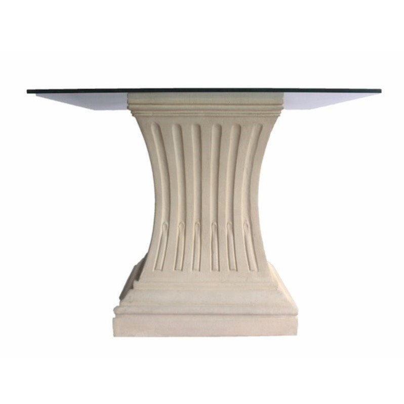 Anderson Teak Legacy Pedestal Dining Table in Natural Beige by Anderson Teak