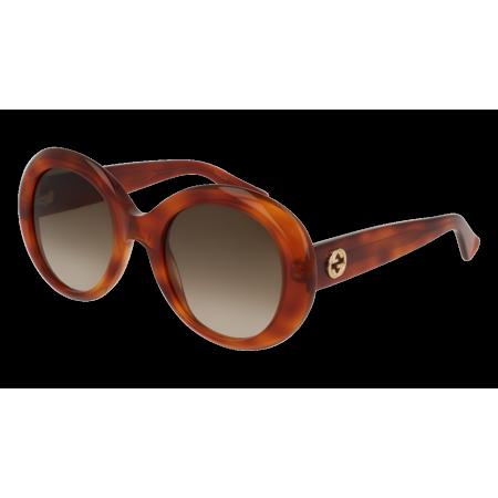 GG0139S-002 Havana 51mm Gucci GG0139S Opulent Luxury Oval Butterfly Woman Sunglasses