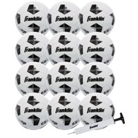 aa35a9e99 Product Image Franklin Sports Competition 100 Soccer Balls - 12 Pack  Deflated with Pump - White/Black