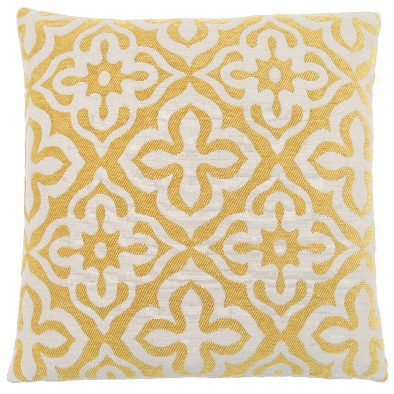 Monarch Motif Throw Pillow in Light Gray by Monarch Specialties
