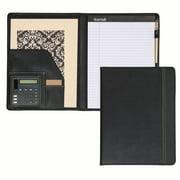 "Samsill Professional Padfolio with Calculator, 8.5""x11"", Black"