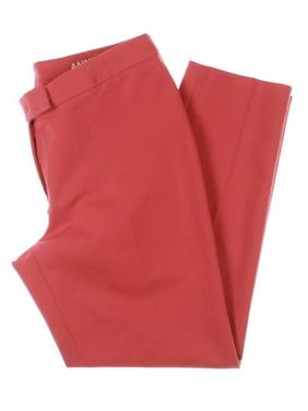 Anne Klein Womens Bowie Cotton Double Weave Dress Pants