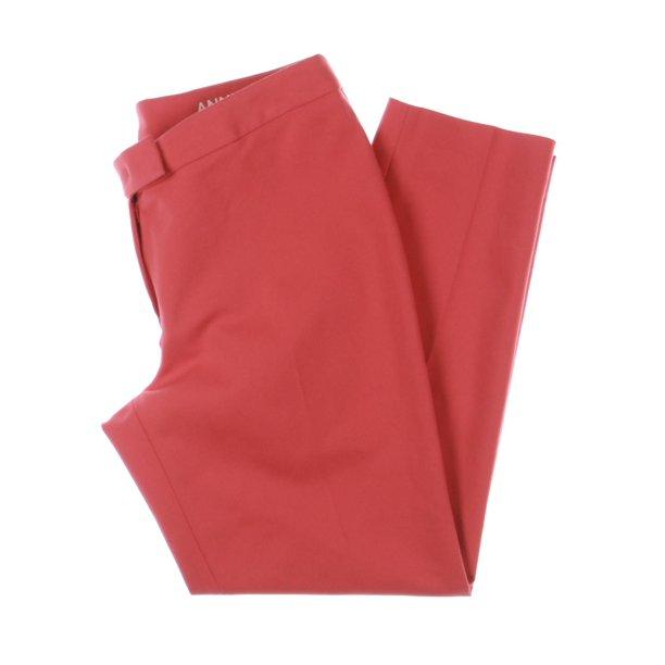 Casual Dress Pants Womens : Anne Klein Womens Bowie Cotton Double Weave Dress Pants