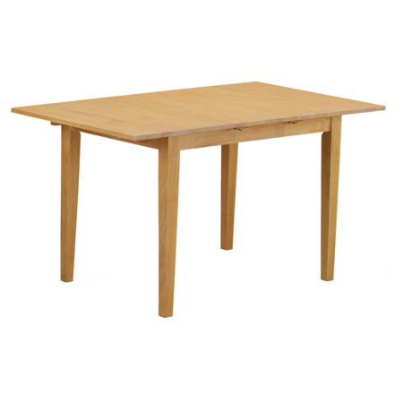 East West Furniture Norfolk 42-54 Inch Rectangular Dining Table with Butterfly Leaf ()