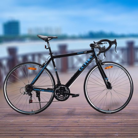 Goplus 700C 52cm Aluminum Road/Commuter Bike Bicycle 21 Speed Quick Release Carbon Road Bicycle