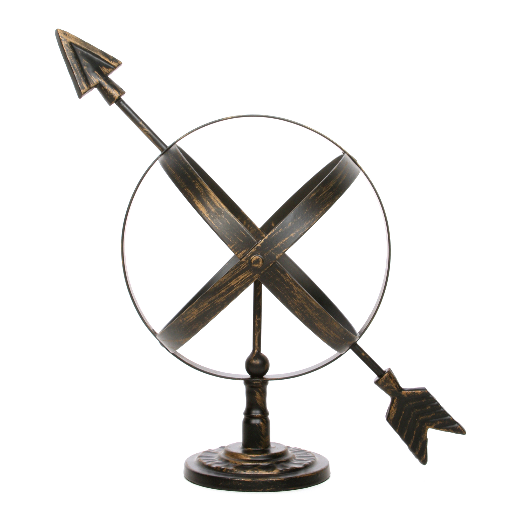 Decorative Tabletop Sculpture Arrow Sphere